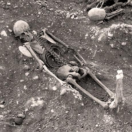 Facedown-burial