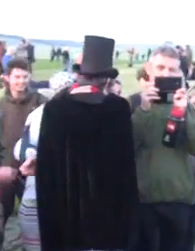 Stonehenge Kid In Black Cape And Top Hat